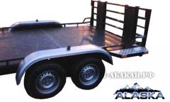 Хит сезона! Легковой прицеп. Модель Аляска-71432(Ракета) для трех снегоходов